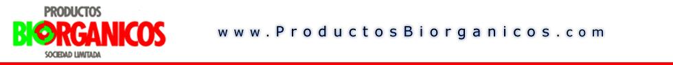 Logotipo de PRODUCTOS BIORGANICOS, S. L.